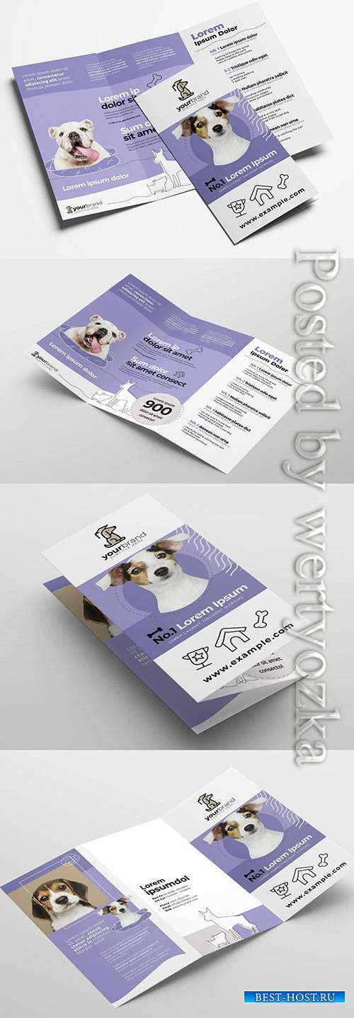 Trifold Brochure Layout for Pet and Vet Services