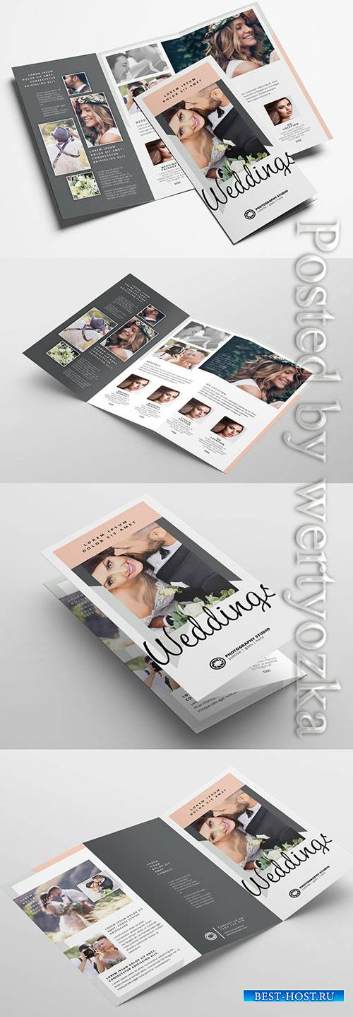 Trifold Layout for Wedding Photographers