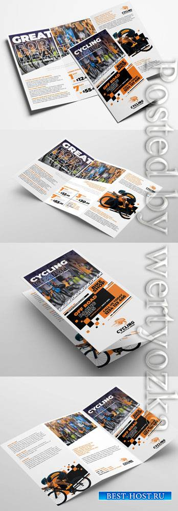 Cycling Shop Trifold Brochure Layout 322611393