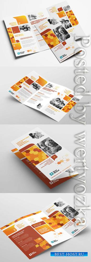 Corporate Trifold Leaflet Layout 322611388