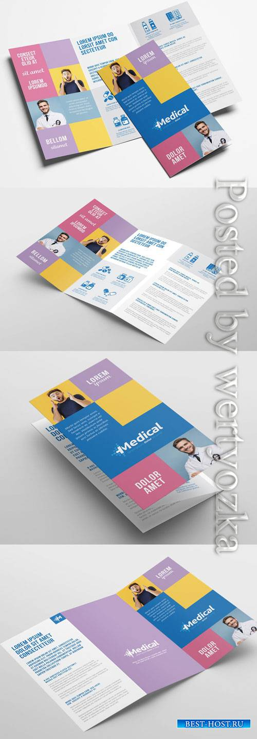 Modern Medical Trifold Brochure Layout