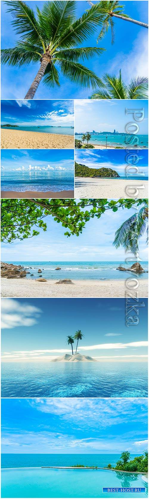 Beautiful tropical beach, seascapes