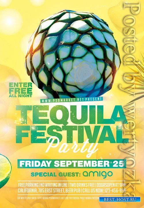 Tequila festival - Premium flyer psd template
