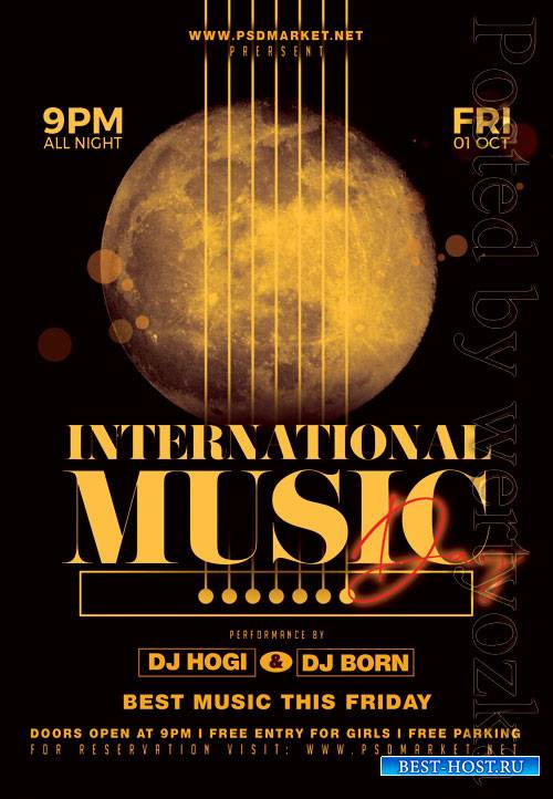 Music day - Premium flyer psd template