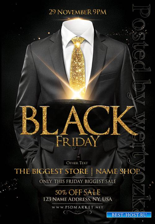 Black friday vip - Premium flyer psd template