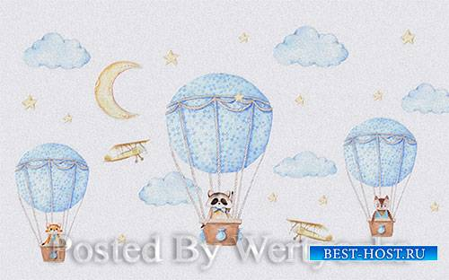 3D models modern minimalistic cartoon parachute children room