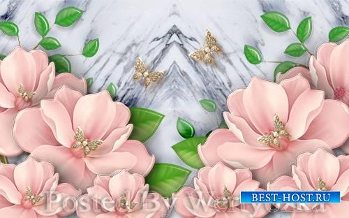 3D models european beautiful and elegant pearl flower stereo tv