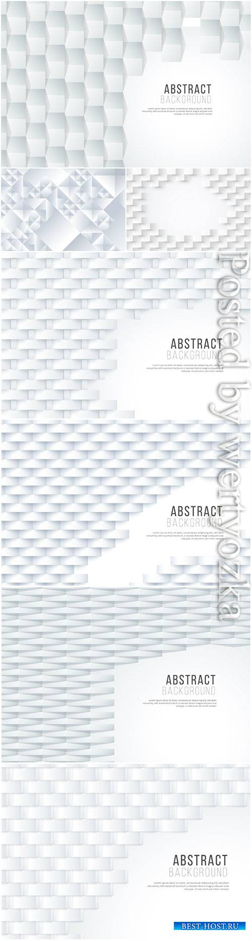 3d vector background with white abstract elements