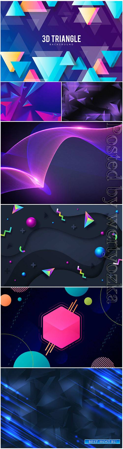 3d background with colorful vector abstract