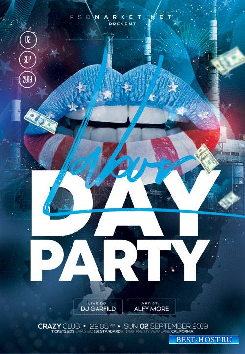 Labor day event - Premium flyer psd template
