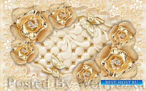 3D psd models european society jewelry flower soft bag wall