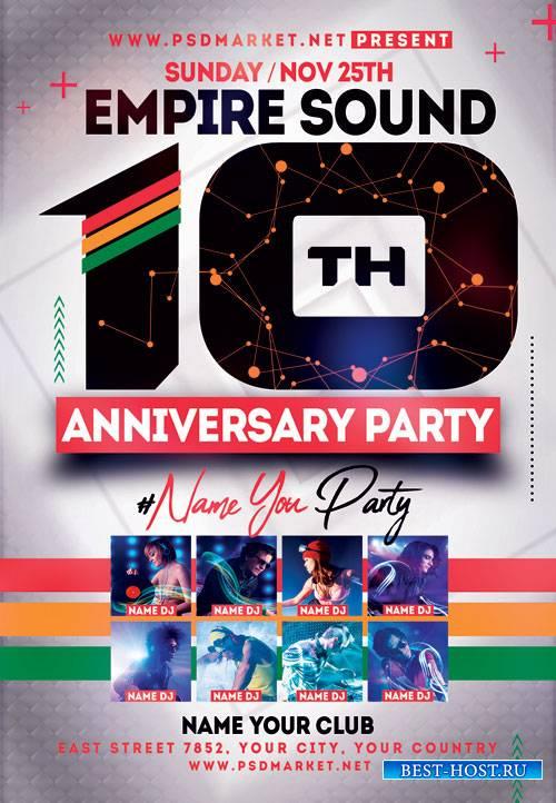 Reggae anniversary - Premium flyer psd template