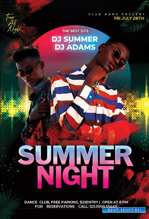 Summer Night Event - Premium flyer psd template