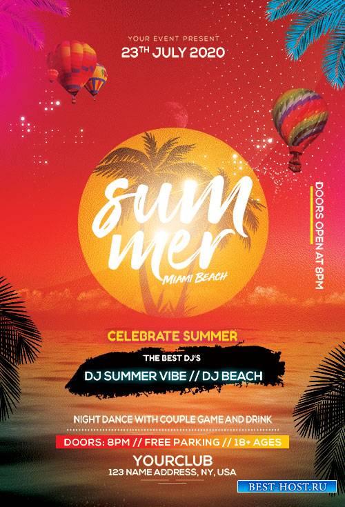 Summer Beach - Premium flyer psd template