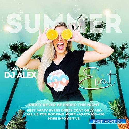 Summer Event - Premium flyer psd template
