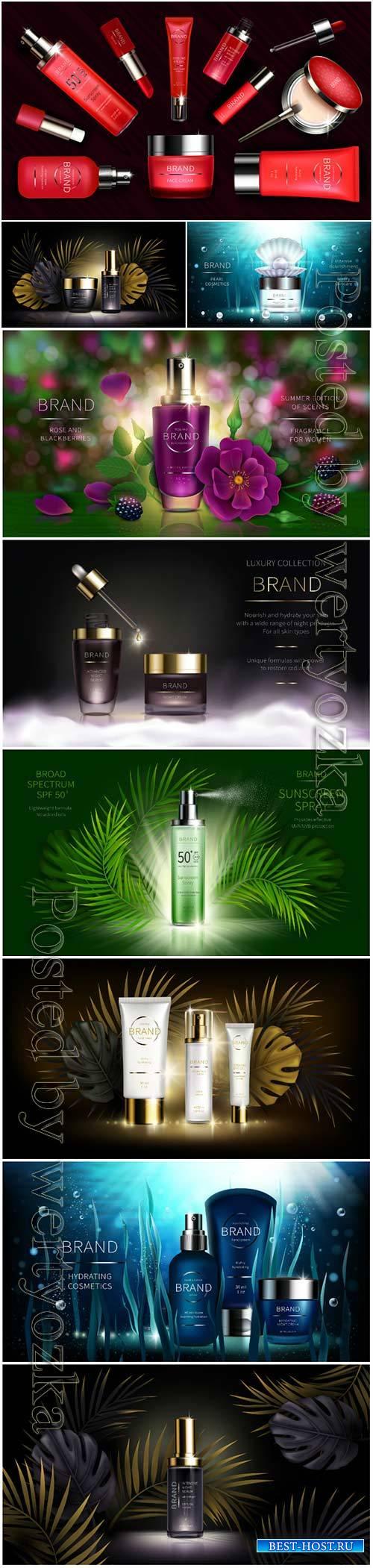 Skin care cosmetics, vector illustration
