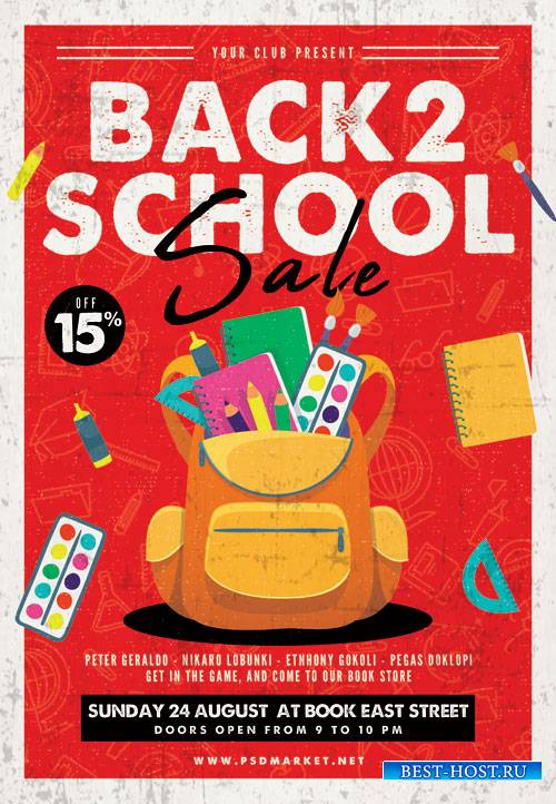 Back_to_school_sale_event3 - Premium flyer psd template