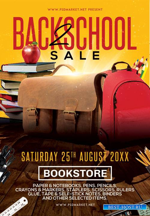 Back 2 school sale - Premium flyer psd template