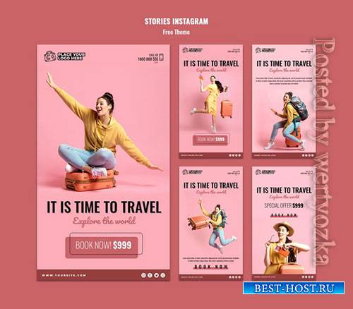 Time to travel stories template