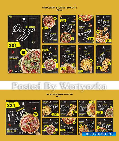 Pizza restaurant social media stories template