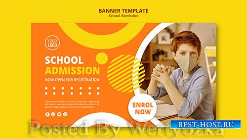 School admission concept banner template