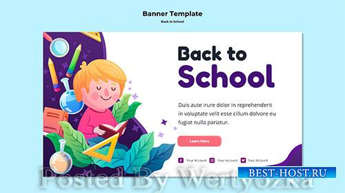 Back to school banner template # 2
