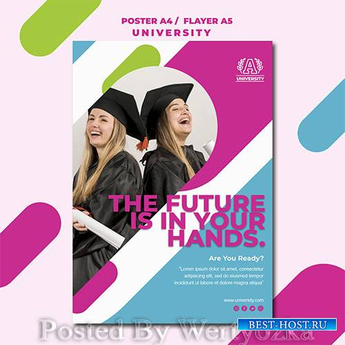 Education concept university poster