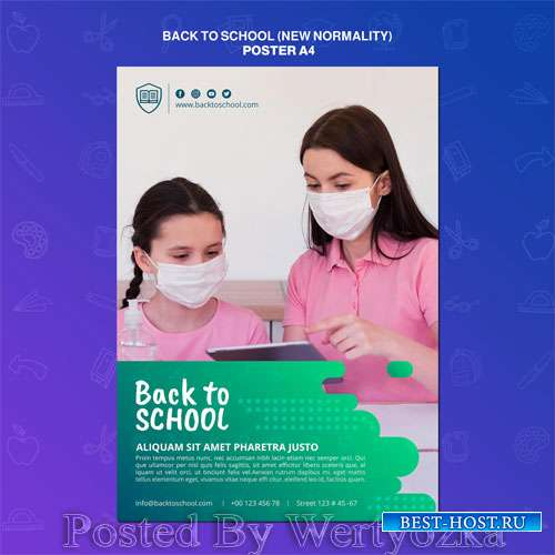 Back to school poster template #2