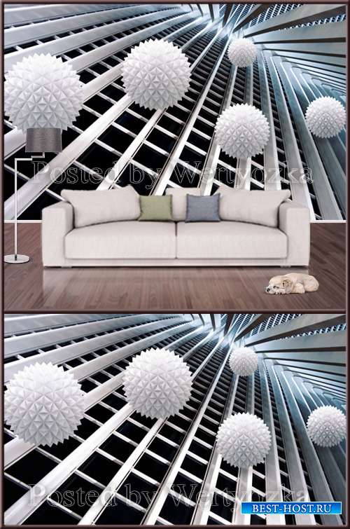 3D psd background wall creative stereo space