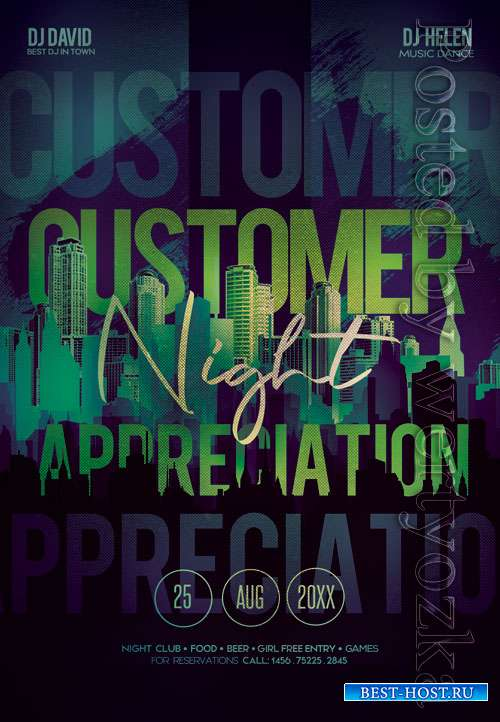 Customer appreciation night - Premium flyer psd template
