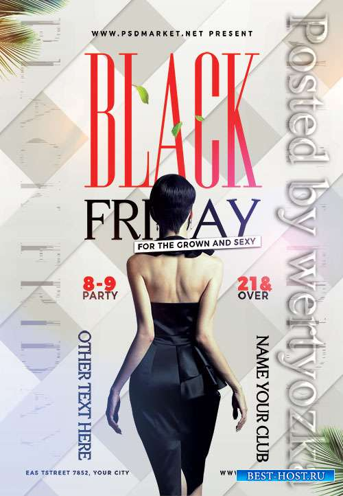 Black friday party - Premium flyer psd template