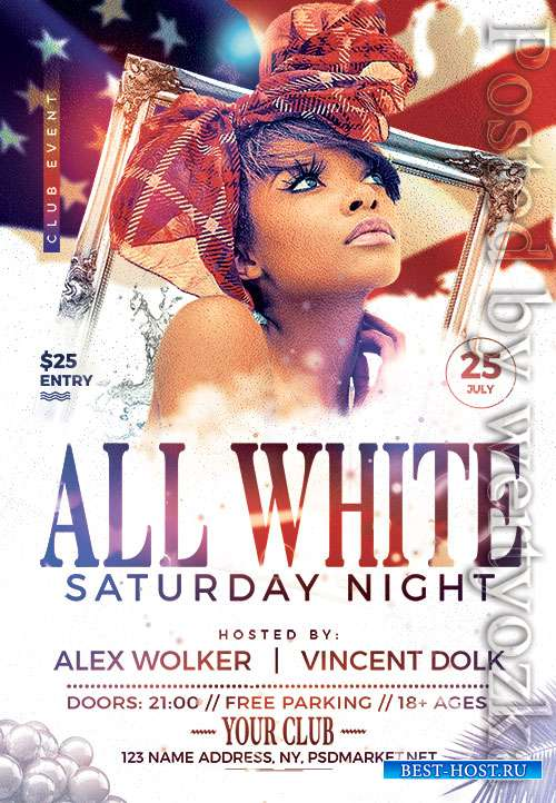 All white party - Premium flyer psd template