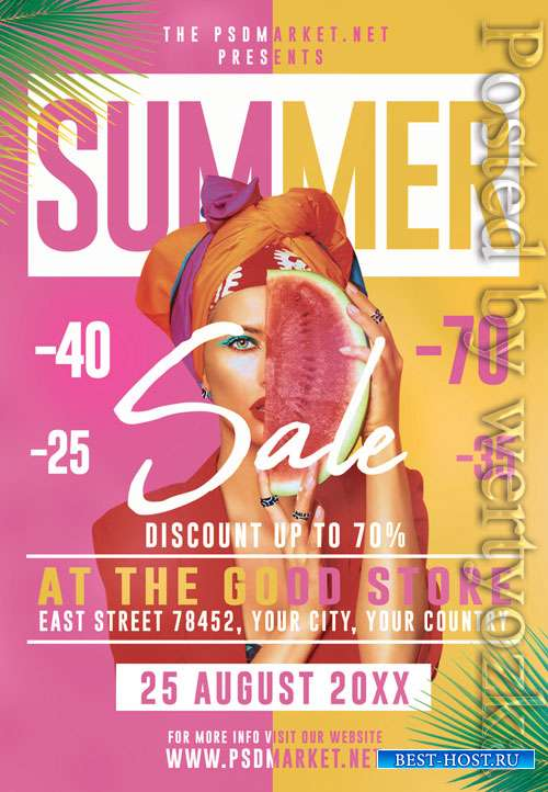 Summer sale event - Premium flyer psd template