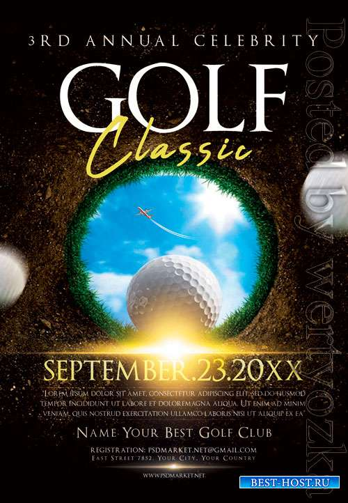 Golf classic - Premium flyer psd template