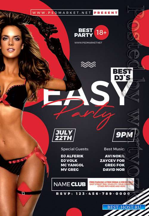 Easy party - Premium flyer psd template