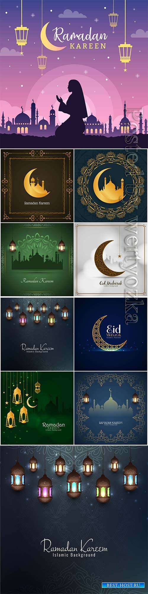 Ramadan design vector background