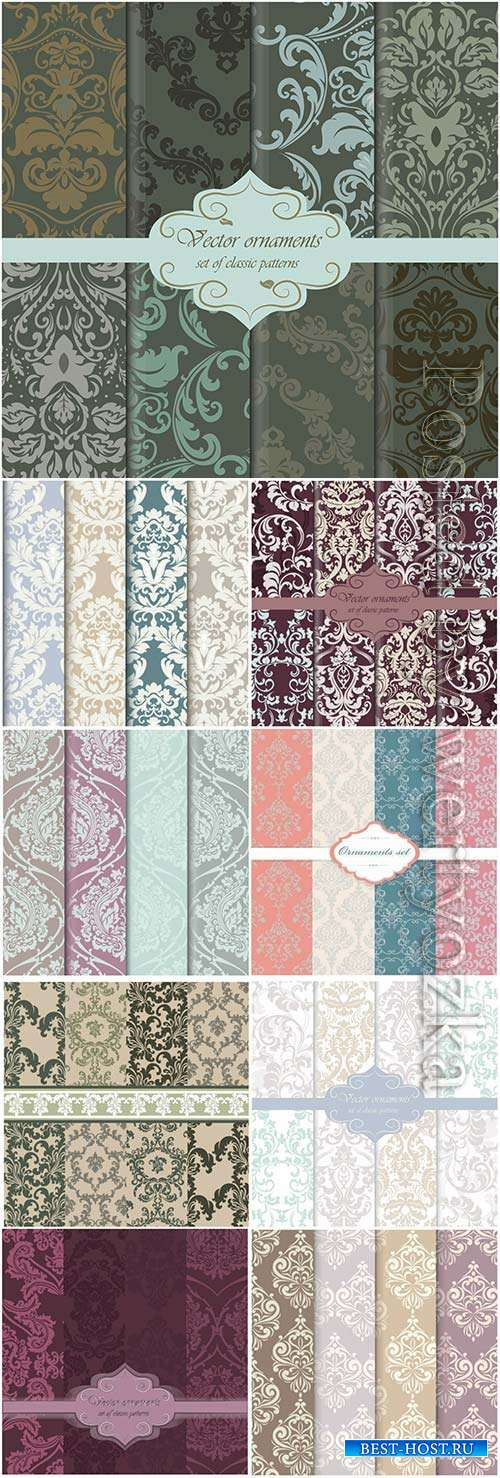 Vector colors pattern background collection