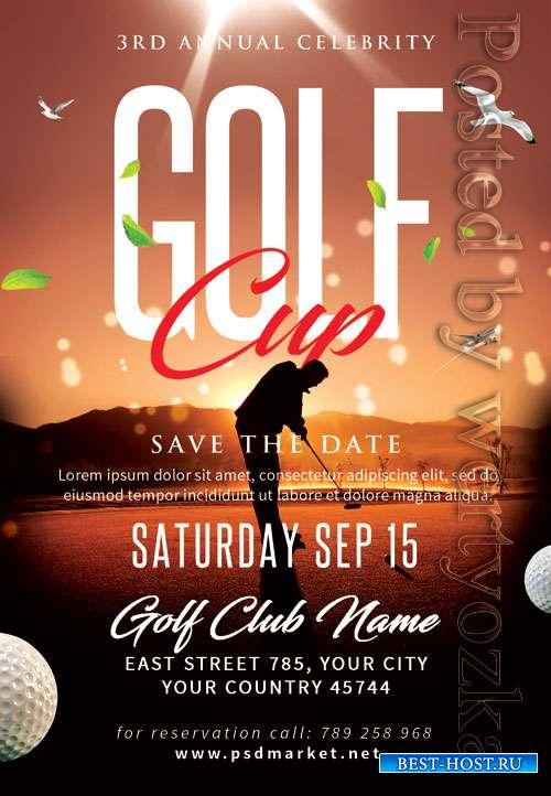 Golf cup - Premium flyer psd template