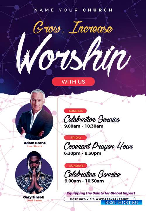 Worship - Premium flyer psd template