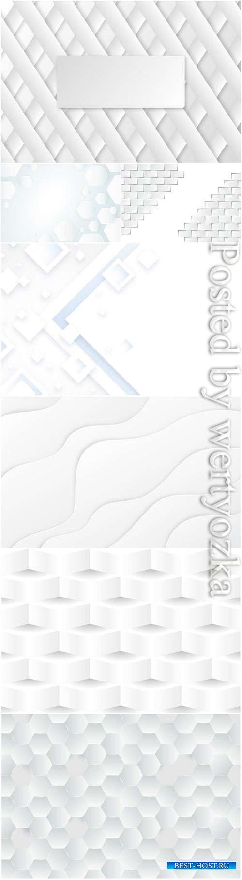 3d background with white abstract vector elements