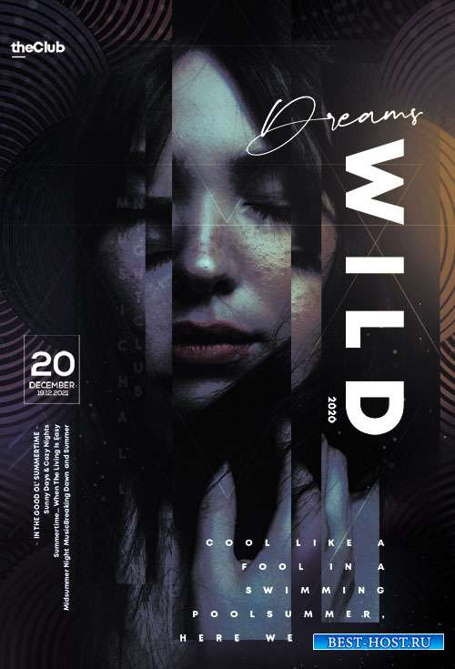 Wild Dreams Event - Premium flyer psd template