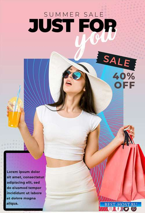 Summer Sale - Premium flyer psd template