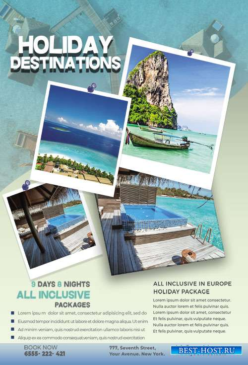 Holiday Vacation - Premium flyer psd template