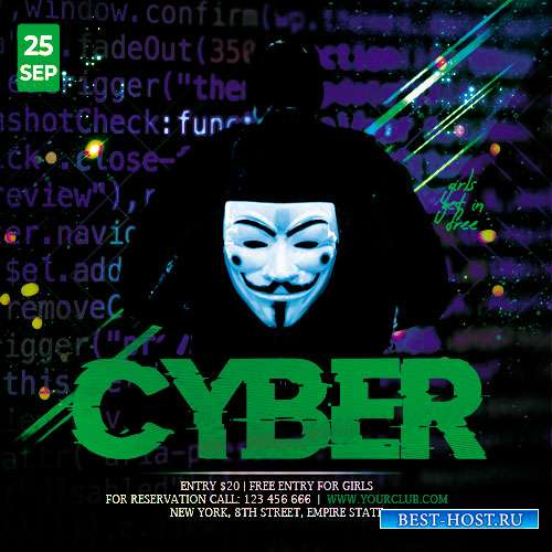Cyber Night - Premium flyer psd template