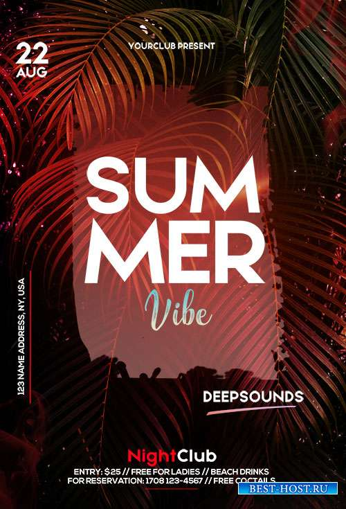 Summer Vibe - Premium flyer psd template