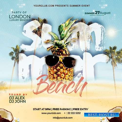 Summer Beach Party - Premium flyer psd template