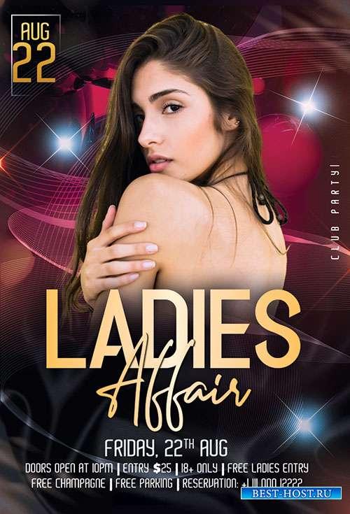 Ladies Affair - Premium flyer psd template