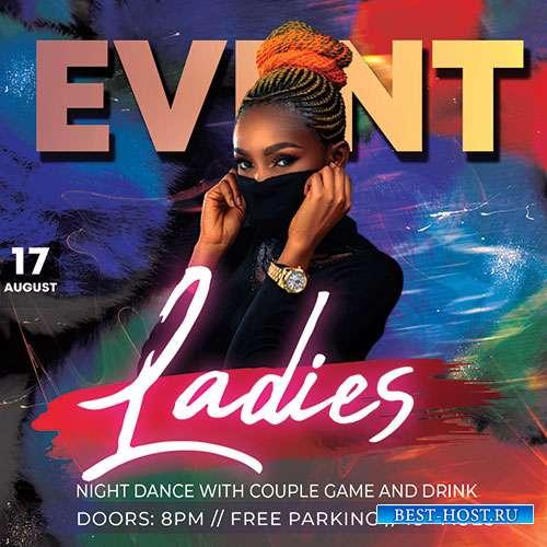 Ladies Event - Premium flyer psd template