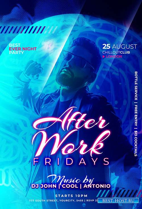 After Work - Premium flyer psd template