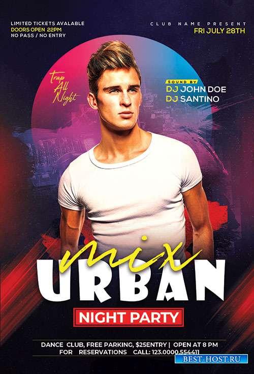 Urban Club - Premium flyer psd template